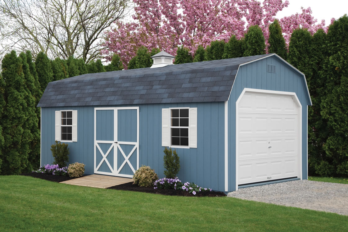 Dutch barns sheds from riehl quality storage barns pa for Garden shed 9x7