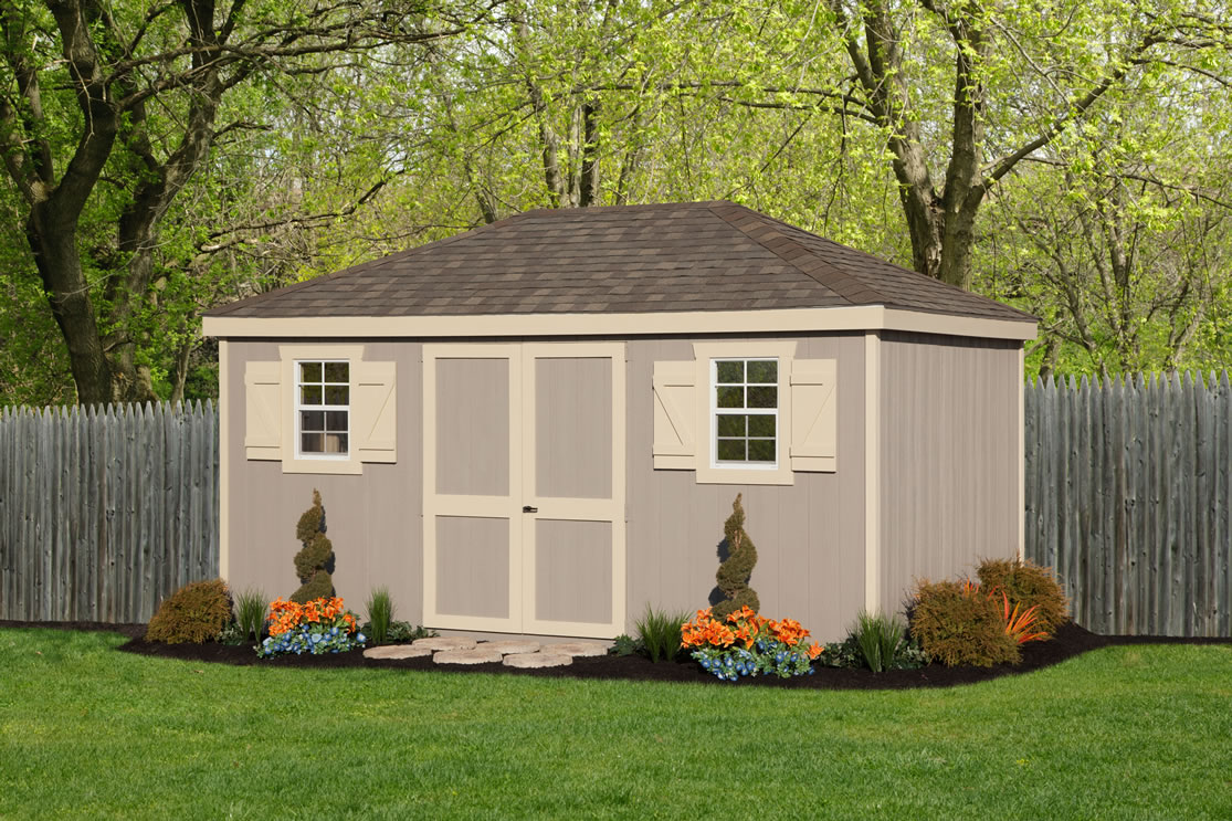 Hip Roof Sheds From Riehl Quality Storage Barns Pa