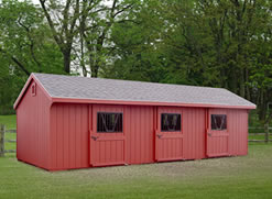 12x30 Colonial Horse Barn Cottage