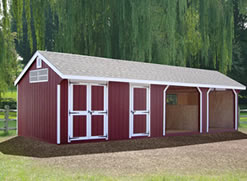 12x40 Colonial Horse Barn Cottage