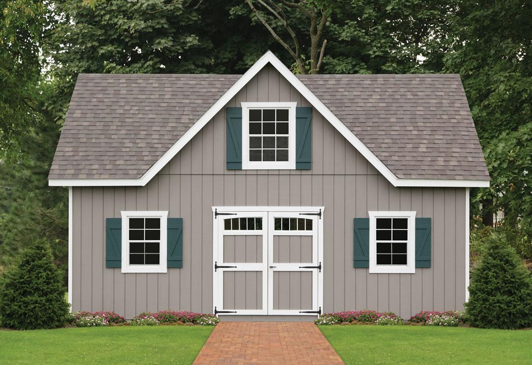 Ponderosa victorian storage barn recreation area studio for Garden shed 9x7