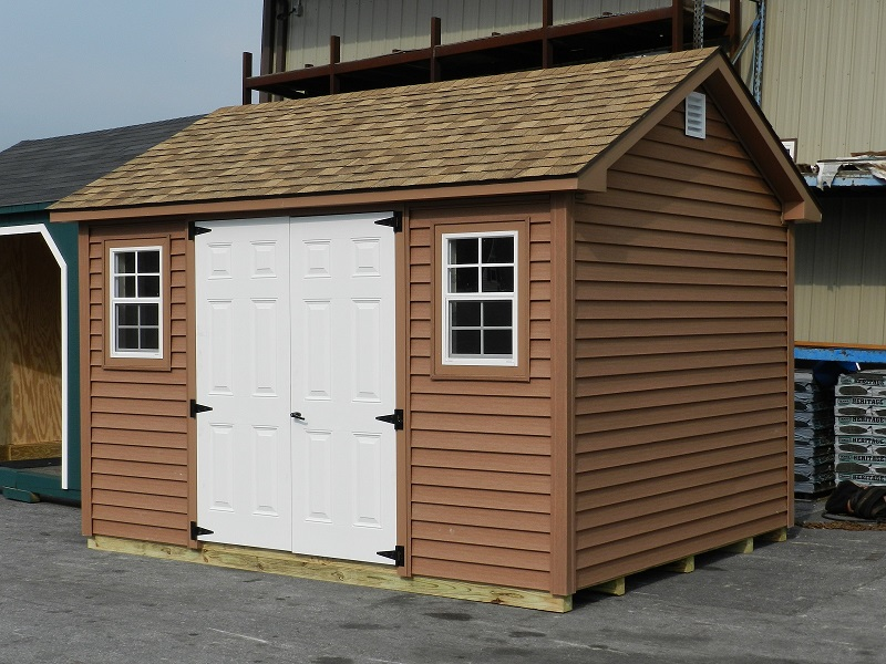 10x12 Colonial Aframe - Custom Vinyl Siding