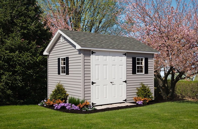 10x12 Colonial Aframe Vinyl Siding