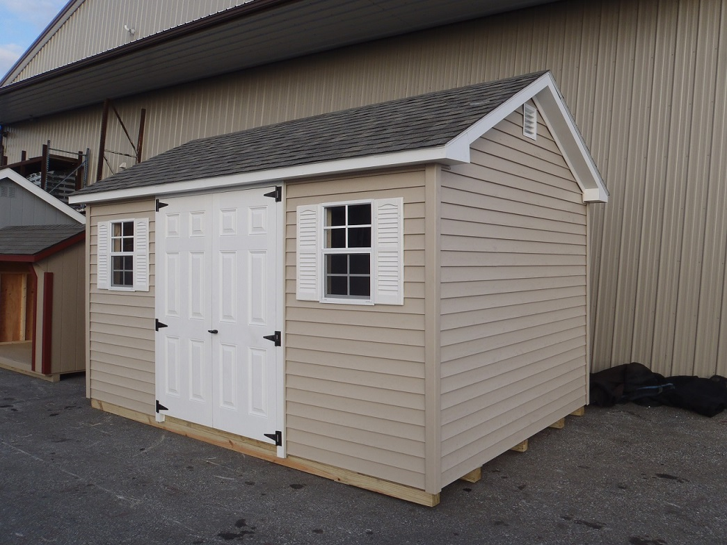 10x14 Colonial Aframe Vinyl Siding