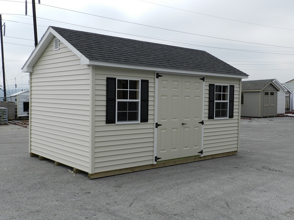10x16 Colonial Aframe Vinyl Siding