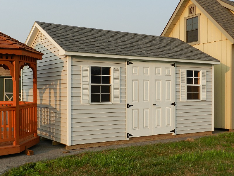 12x16 Colonial Aframe Vinyl Siding