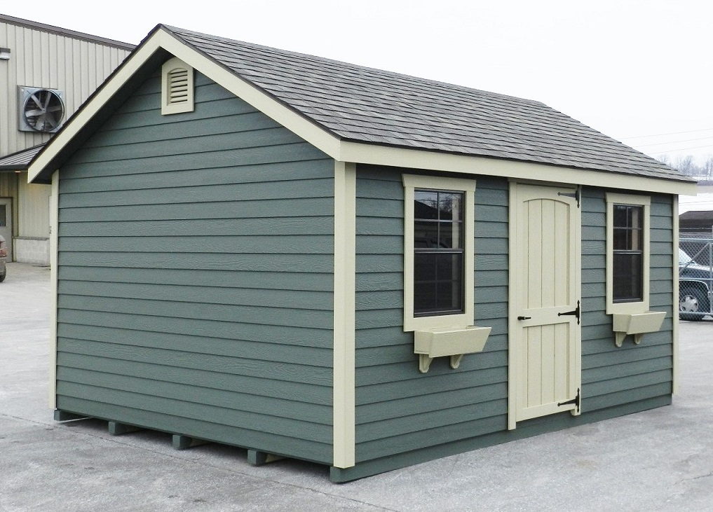 12x16 Colonial Aframe - Wooden Lap Siding