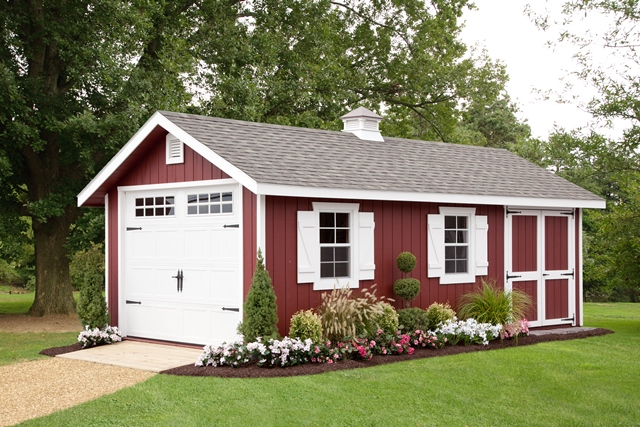 12x24 Victorian Aframe 7'walls Garage