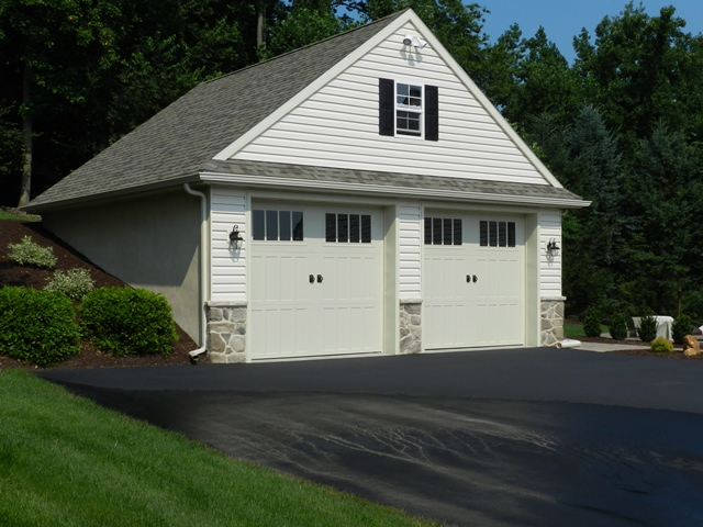 Two story garage vinyl 2 story garage two story garage for 2 story garage kit