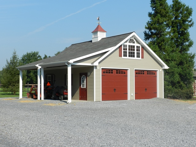 Riehl quality storage barns llc for Garage portico