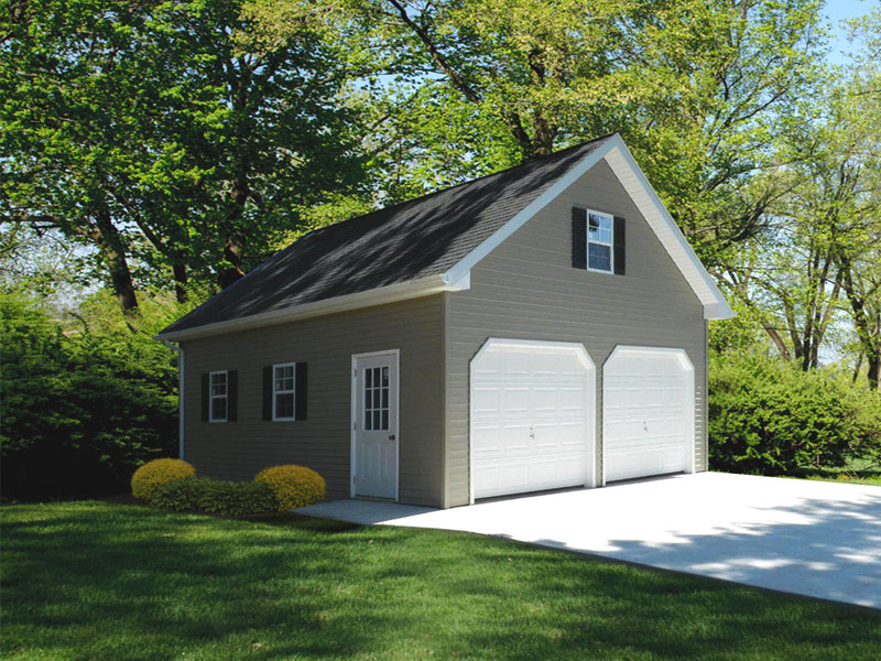 Custom built garages single car multi vehicle double for 24x24 garage plans