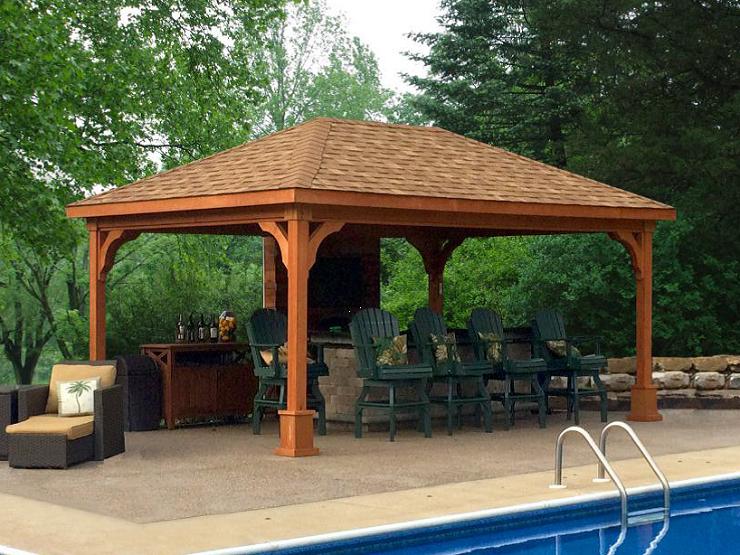 Wood & Vinyl Pavilions from Riehl Quality Storage Barns, LLC
